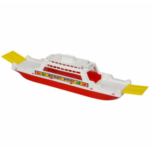Ferry Boat Πλαστική Βάρκα θαλάσσης Κόκκινη ΑΠΕΡΓΗ 2207 - 1232