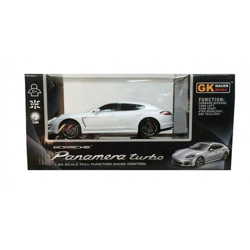 Αυτοκινητάκι τηλεκατευθυνόμενο ασύρματο GK Races Series Porsche Panamara Turbo 1:24 Emulation - 1275 - Λευκό - ΟΕΜ