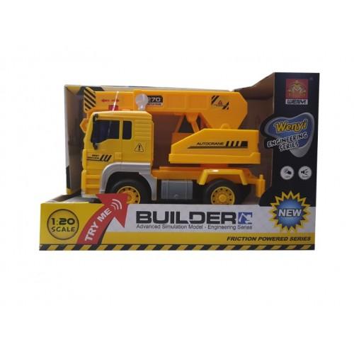 Φορτηγό γερανοφόρο WENYI 1:20 με ήχο και φως- 1290 - Κίτρινο - ΟΕΜ
