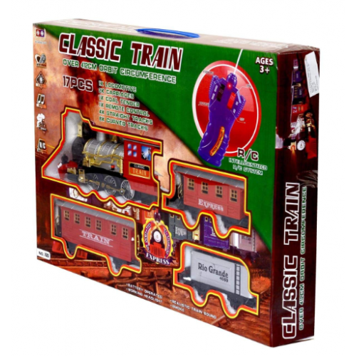 Tρενάκι  τηλεκατευθυνόμενο με ήχο , φώς και μουσική CLASSIC TRAIN - 1282 - OEM
