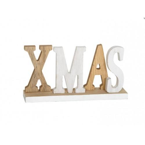 Χριστουγενιάτικο ξύλινο διακοσμητικό X - MAS 4746 - 1503