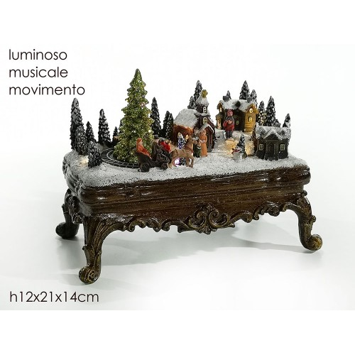 VESTI CASA Χριστουγεννιάτικο Διακοσμητικό με ήχο φώς και κίνηση 460609 - 1509