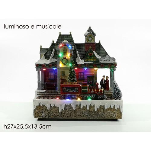 VESTI CASA Χριστουγεννιάτικο Διακοσμητικό Σπιτάκι με ήχο φώς και κίνηση 460209 - 1510
