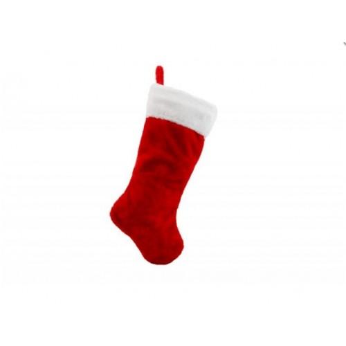 Χριστουγεννιάτικη κάλτσα 48εκ Κόκκινη - 1271 - ΟΕΜ