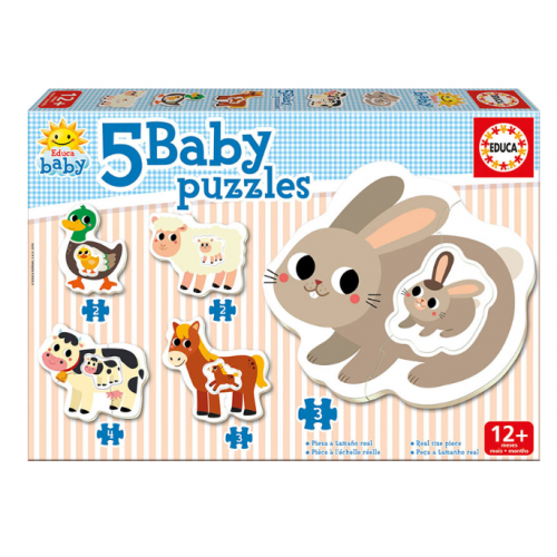 EDUCA 5 Baby Puzzles Ζωάκια της Φάρμας 17574 - 1261
