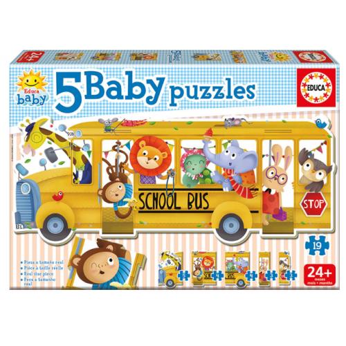 EDUCA 5 Baby Puzzles Σχολικό Λεωφορείο 17575 - 1262