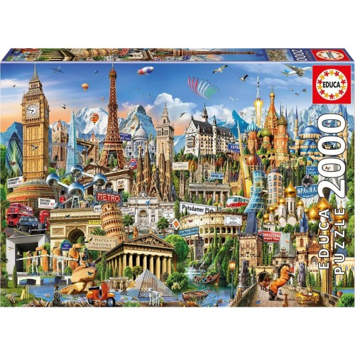 EDUCA Πάζλ Europe Landmarks 2000 ΚΟΜΜΑΤΙΑ 17697 - 2024