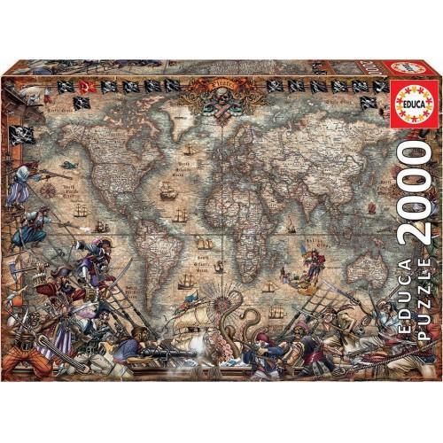 EDUCA Πάζλ Pirates Map 2000 ΚΟΜΜΑΤΙΑ 18008 - 2026