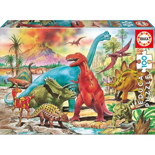 EDUCA Πάζλ Dinosaurs 100 KOMMATIA 13179 - 2029