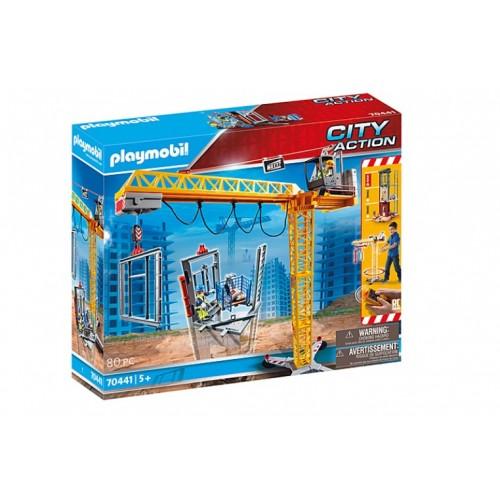 Playmobil 70441 Ανυψωτικός Γερανός Βαρέως Τύπου Με Τηλεχειριστήριο Και Σκαλωσιές - 1413