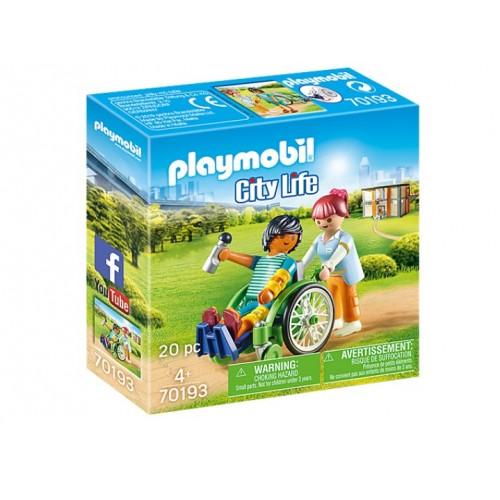 Playmobil 70193 Ασθενής Με Καροτσάκι - 1477