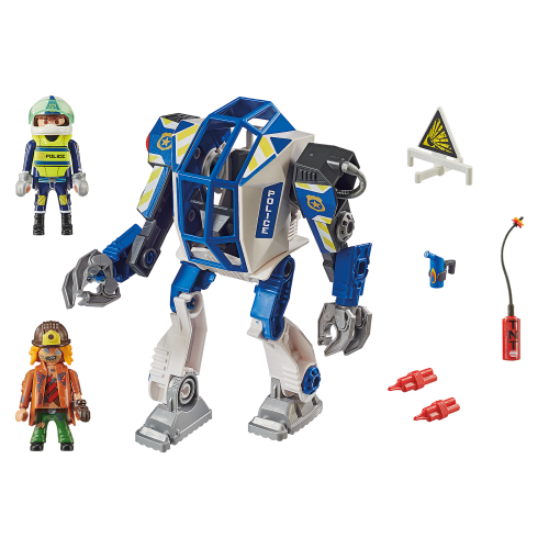 Playmobil City Action 70571 Αστυνομικό Ρομπότ και Ληστής - 1820