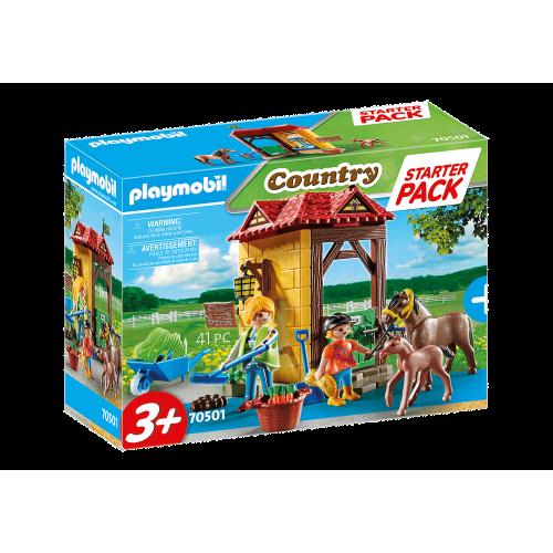 Playmobil Country 70501 Starter Pack Στάβλος Αλόγων - 1825